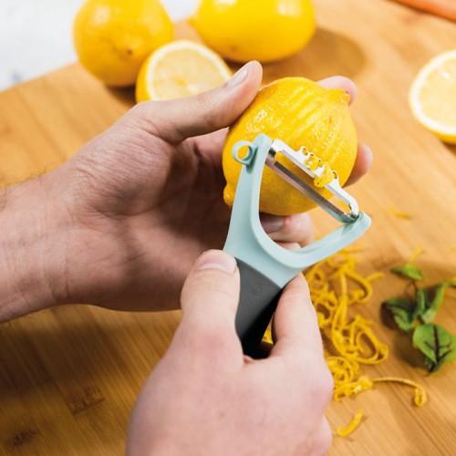 Терка для имбиря, овощечистка и нож с зестером Berghoff LEO