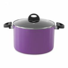 Кастрюля Berghoff Eclipse с крышкой, фиолетовая, диам. 24 см, 6,6 л