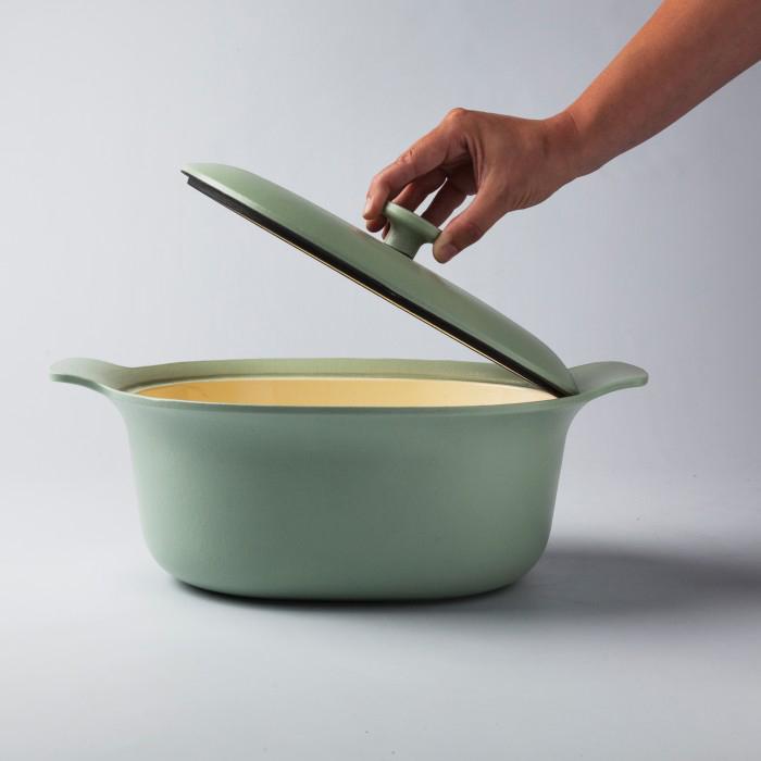 Кастрюля чугунная Berghoff RON, светло-зеленая, диам. 28 см, 5 л