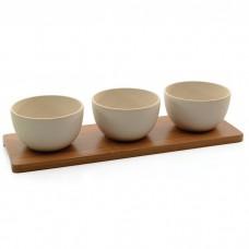 Набор мисочек для закусок Berghoff на бамбуковой подставке, 4 пр.