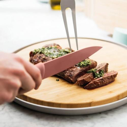Нож разделочный Berghoff LEO с покрытием, розовый, 19 см
