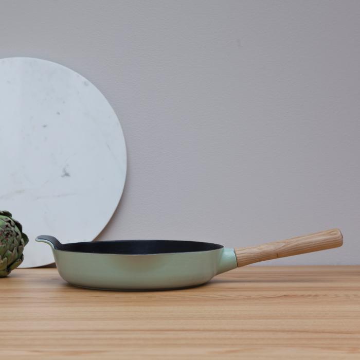 Сковорода чугунная Berghoff RON, светло-зеленая, диам. 26 см