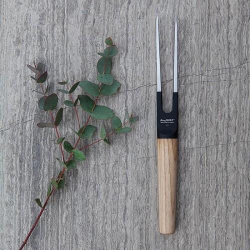 Вилка для мяса с деревянной ручкой Berghoff RON, с покрытием, 17 см