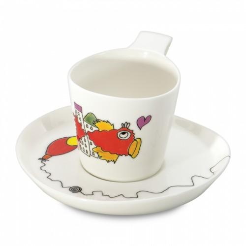 Чашка для чая Berghoff  Eclipse с блюдцем,  240 мл, 2 шт.