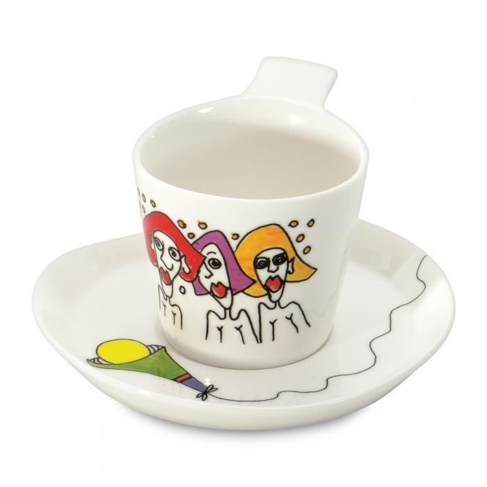 Чашка для кофе Berghoff  Eclipse с блюдцем, 180 мл, 2 шт.