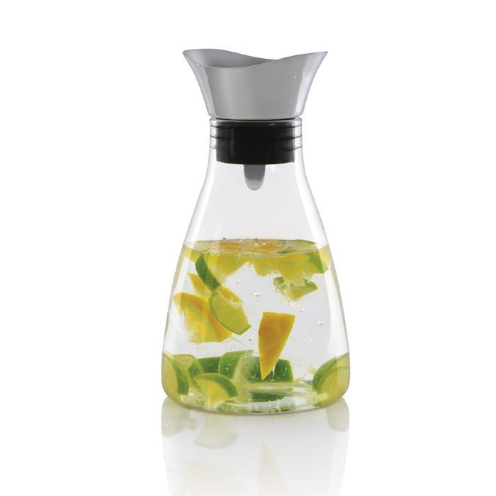 Графин для воды стеклянный Berghoff, с крышкой, диам. 13 см, Н 26 см, 1,2 л