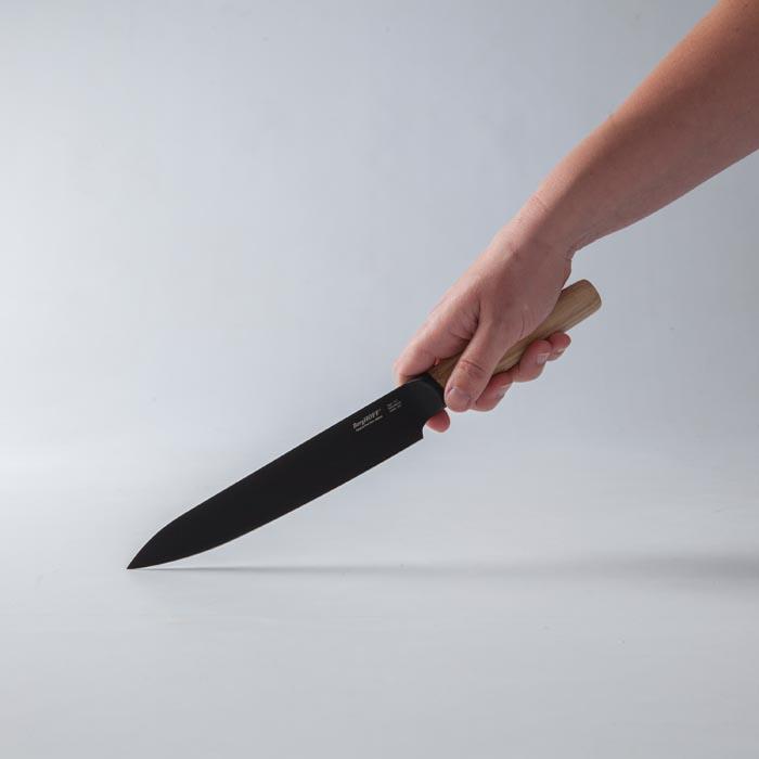Нож разделочный с деревянной ручкой Berghoff RON, с покрытием, 19 см