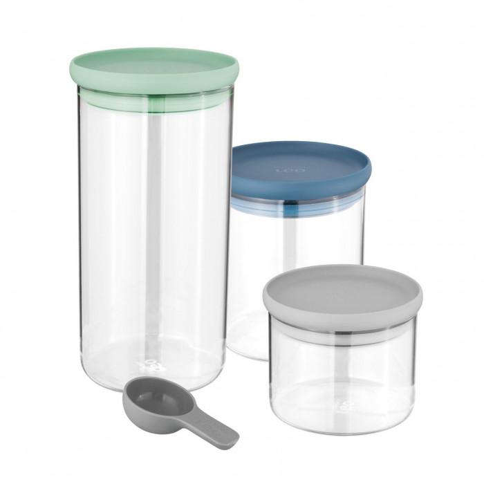 Набор стеклянных контейнеров для хранения Berghoff LEO, 3 шт.