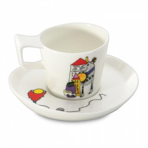 Чашка для эспрессо Berghoff  Eclipse с блюдцем, 80 мл, 2 шт.