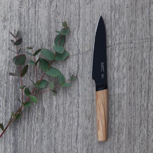 Нож универсальный с деревянной ручкой, Berghoff RON, с покрытием,13 см