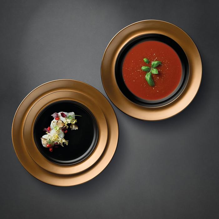 Набор тарелок Berghoff GEM, черный, 3 шт.