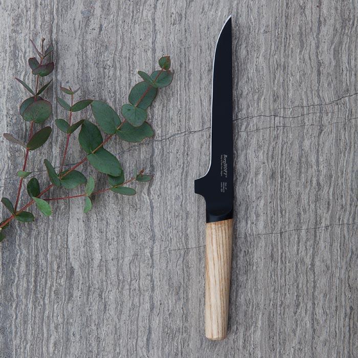 Нож разделочный с деревянной ручкой Berghoff RON, с покрытием, 15 см