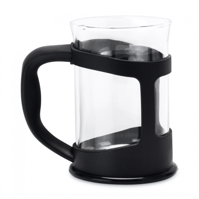 Стакан для чая Berghoff стеклянный, в черной подставке, 200 мл, 2 шт.