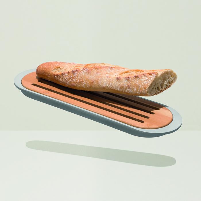 Доска для нарезки хлеба Berghoff LEO, с поддоном, 37 х 11 х 2 см