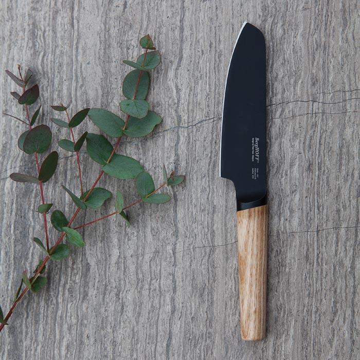 Нож для овощей с деревянной ручкой Berghoff RON, с покрытием, 12 см