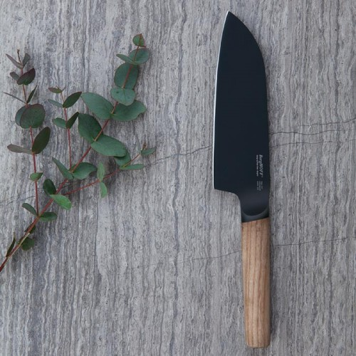 Нож Cантоку с деревянной ручкой Berghoff RON, с покрытием, 16 см
