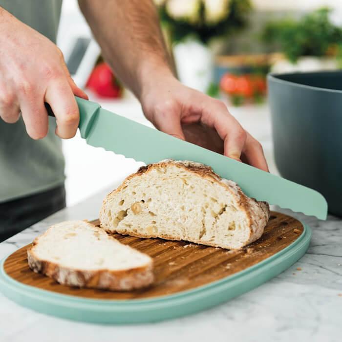 Нож для хлеба Berghoff LEO с покрытием, салатовый, 23 см