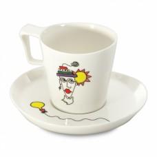 Чашка для завтрака Berghoff  Eclipse с блюдцем, 400 мл, 2 шт.