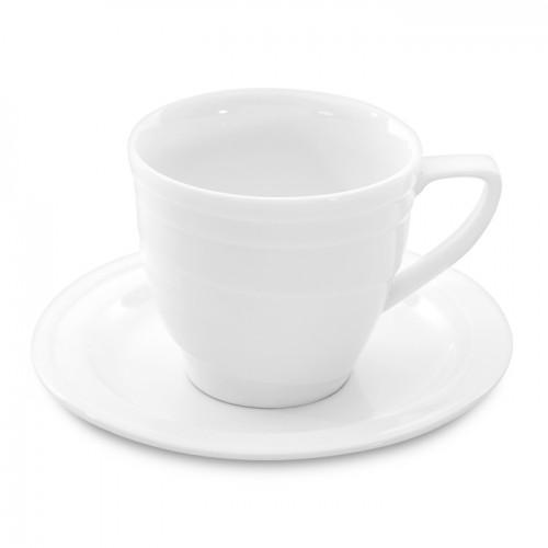Чашка для завтраков Berghoff Hotel, фарфоровая, с блюдцем, 380 мл