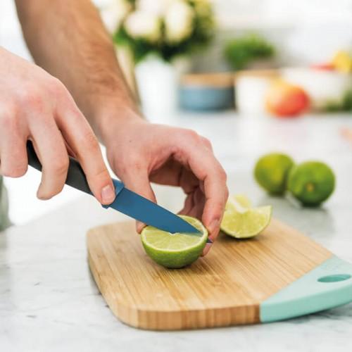 Нож для чистки овощей Berghoff LEO, с покрытием, голубой, 8,5 см