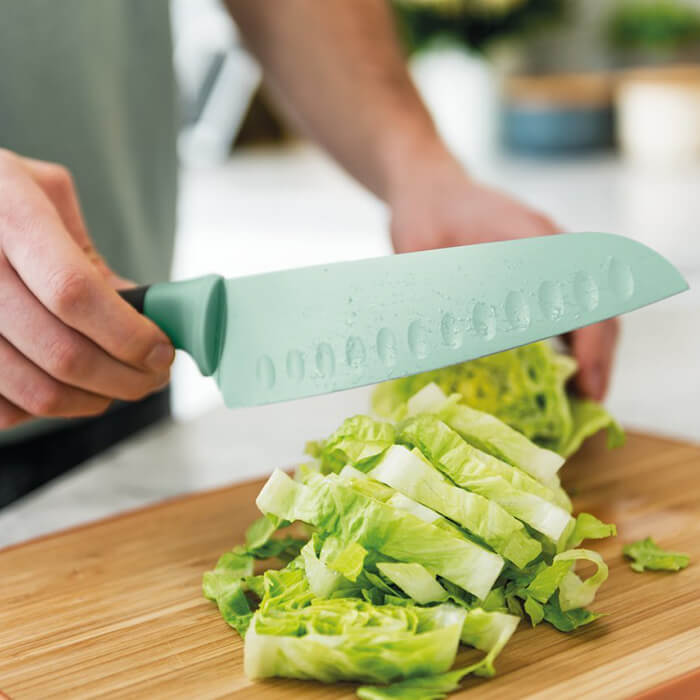 Нож сантоку Berghoff LEO с покрытием, салатовый, 17 см