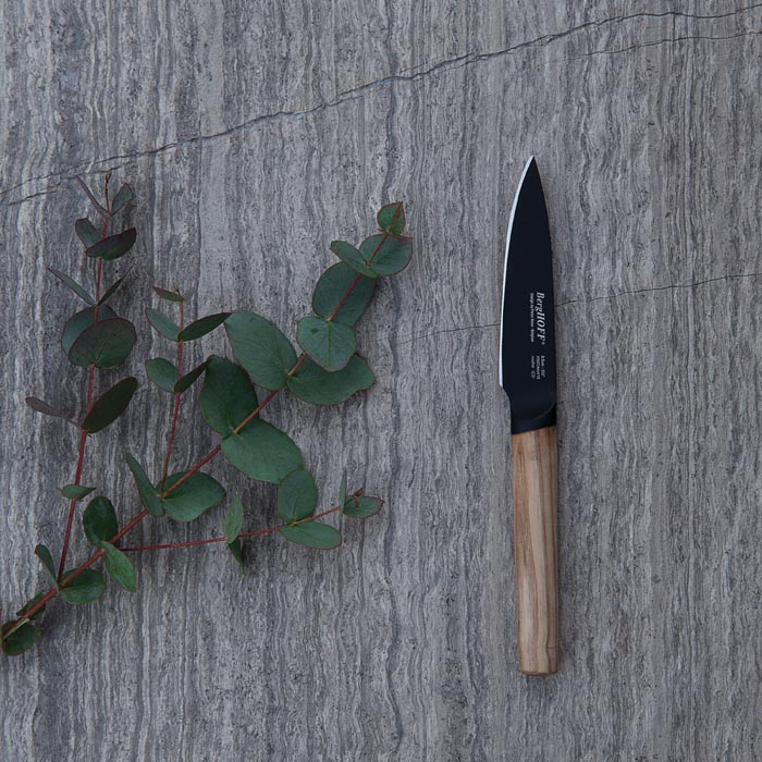Нож для чистки с деревянной ручкой Berghoff RON, с покрытием, 8,5 см